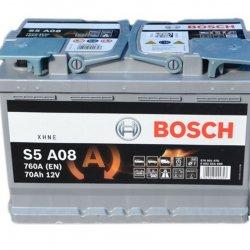 Car Battery Bosch AGM start-stop S5A08 70ah 278x175x190