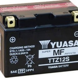 Motorcycle Battery Yuasa  AGM TTZ12S-BS (TTZ12S-4, GTZ12S-BS, PTZ12S, FTZ12S)