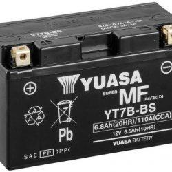 Motorcycle Battery Yuasa AGM YT7B-BS