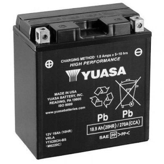 Motorcycle Battery Yuasa AGM YTX20CH-BS