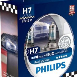Lamps Philips  Η7 Racing Vision 55w 150+ 12972RVS2