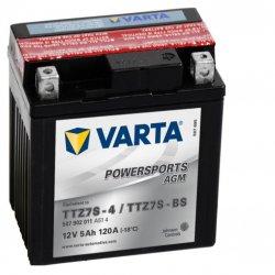 Motorcycle Battery Varta Powersports AGM TTZ7S-4/TTZ7S-BS 5Ah