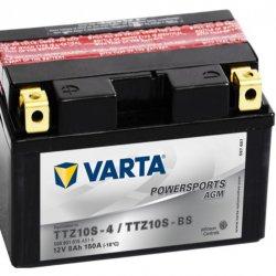 Motorcycle Battery Varta Powersports AGM TTZ10S-4/TTZ10S-BS 8Ah