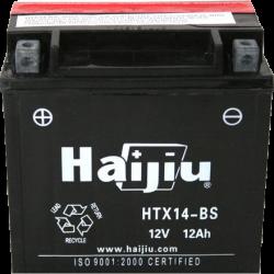 Motorcycle Battery Haijiu HTX14-BS (YTX14-BS) 12ah 200cca
